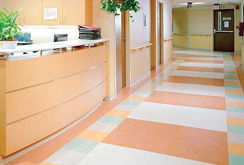 Natural linoleum flooring