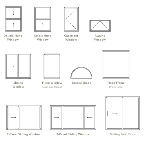 Standard house dimensions design for Window sizes for homes