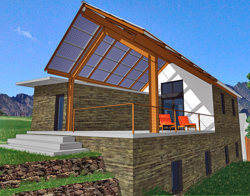 Steel Frame Straw Bale House