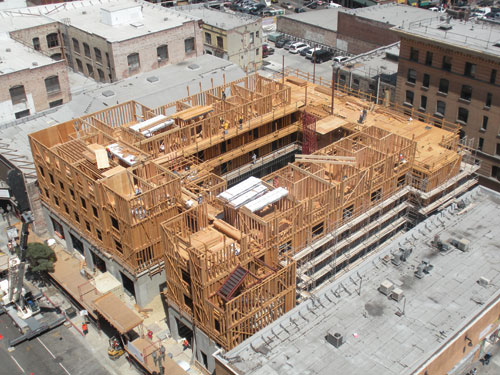 ca designed by killefer flammang architects is a mixed use and mixed income wood frame building with commercial retail space