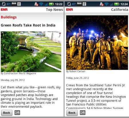 Engineering News-Record Launches ENR Mobile News App