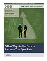 5 New Ways to Use Data to Increase Your Spec Rate