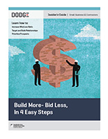 Build More – Bid Less, In 4 Easy Steps