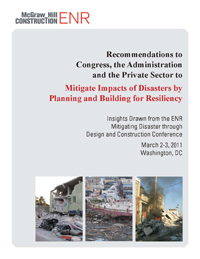 Mitigating Impacts of Disasters by Planning and Building for Resiliency